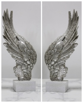 Angels Wings Silver left and right pair 49cm x 8cm x 20cm