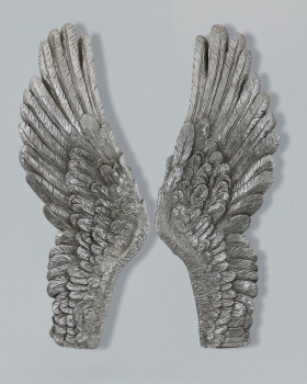 Angels Wings Silver large 90cm x 8cm x 36cm