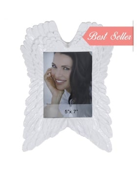 Angels wings white Photo Frame 31.5cm x 4.5cm x 21.5cm