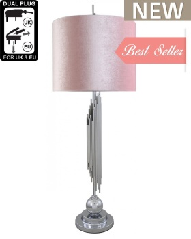 Silver Medium Sculptured With Pink Shade