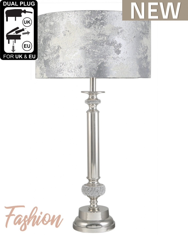 Glitz medium Candlestick With Marble Shade