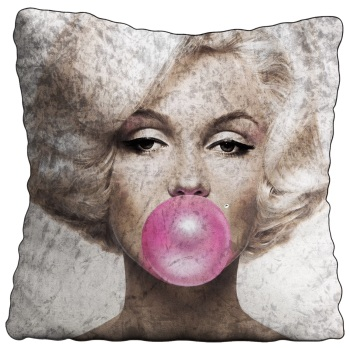 Luxury Feather Filled Cushion Monroe Pink Bubble