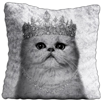 Luxury Feather Filled Cushion Cat Princess
