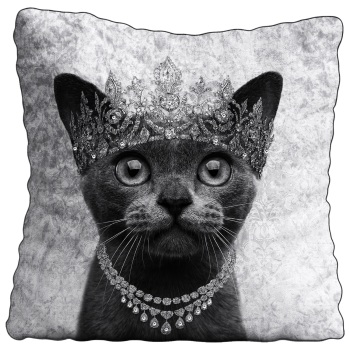 Luxury Feather Filled Cushion Burmese Cat