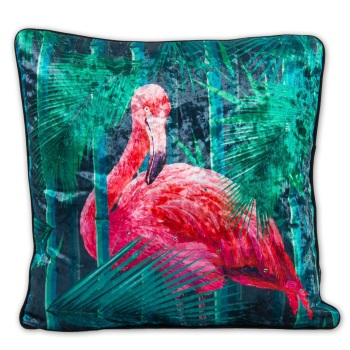Luxury Feather Filled Cushion Pink Flamingo