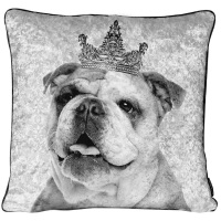 Luxury Feather Filled Cushion Bull Dog King