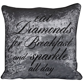 Luxury Feather Filled Cushion Luxury Feather Filled Cushion Eat Diamonds & Sparkle All Day