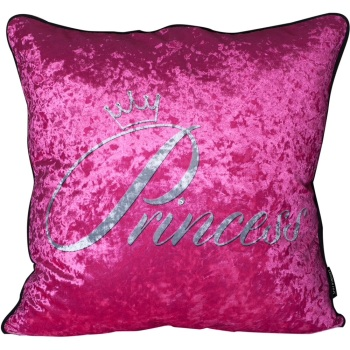 Luxury Feather Filled Cushion Princess in Pink
