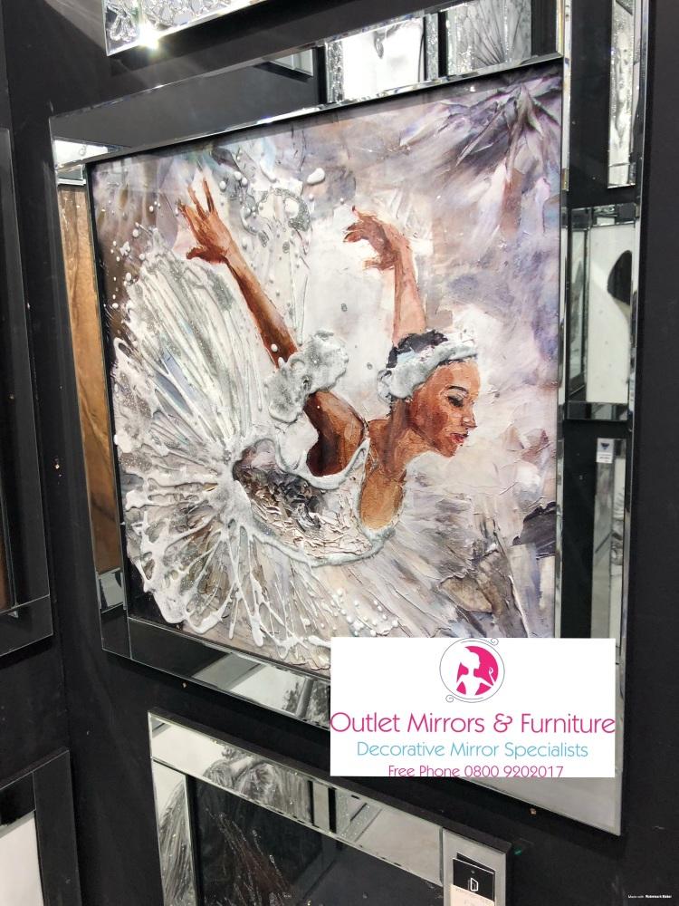 Mirror framed art print Ballerina Dancer