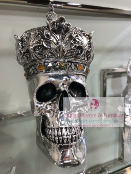 Jewel Queen Crown Skull 35.5cm high