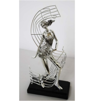 "16"" Female Dancer With Musical Note"