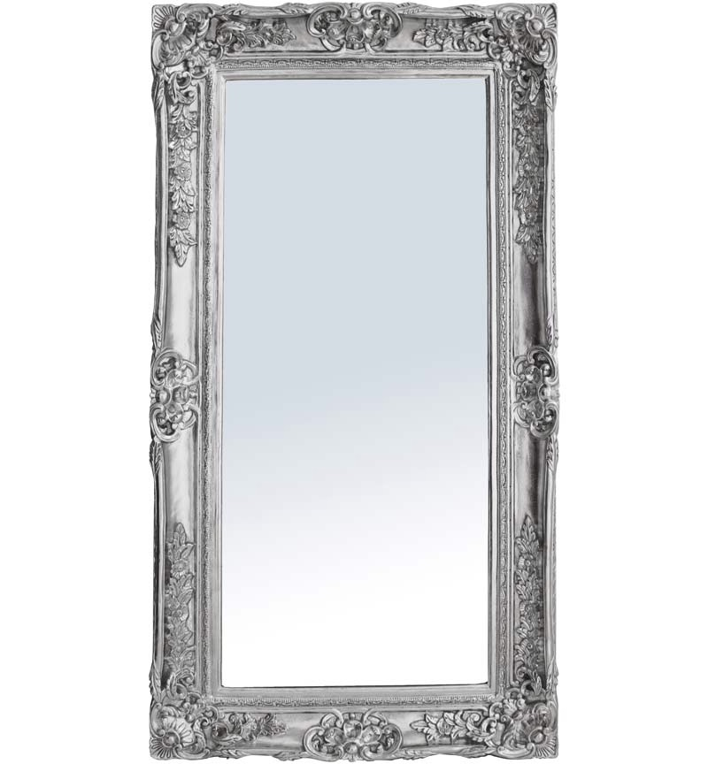 Rococo Scroll Silver Shaped Bevelled Mirror