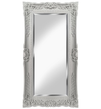 Rococo Scroll Ivory / Cream Shaped Bevelled Mirror