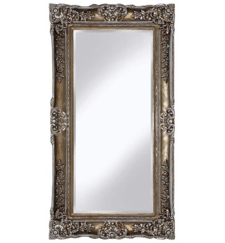 Rococo Scroll Champagne Shaped Bevelled Mirror