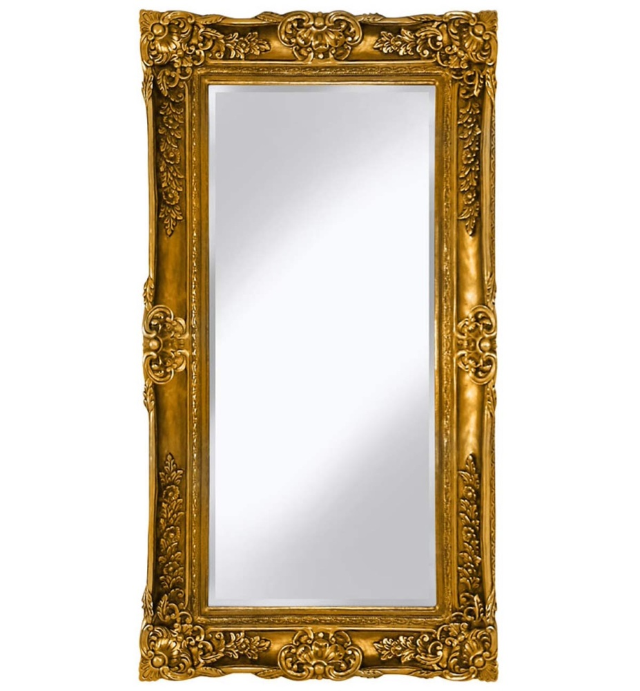 Rococo Scroll Gold Shaped Bevelled Mirror