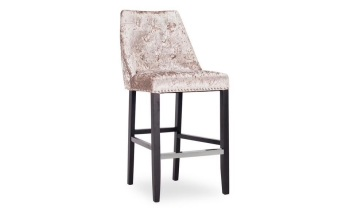 Ellis Knocker Back Stool in Champagne Crush Velvet