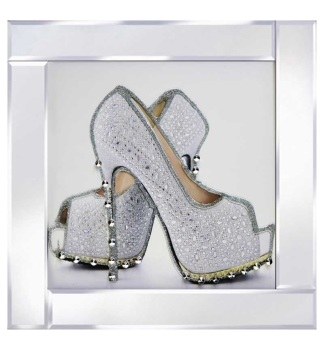 """""""Glitter Sparkle Shoes"""" in mirror frame"""