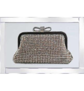 "Mirror framed art print ""Sparkle handbag"" 100cm x 60cm"