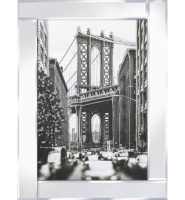 "Mirror framed art print ""New York Bridge"" 75cm x 95cm"