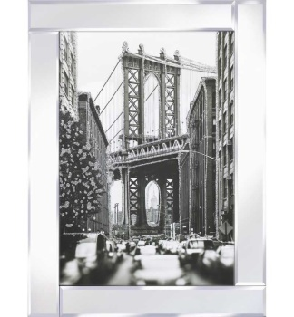 "Mirror framed art print ""New York Bridge"" 75cm x 95cm"