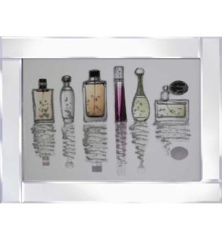 """Mirror framed art print """"Perfume Bottles"""" 100cm x 60cm"""