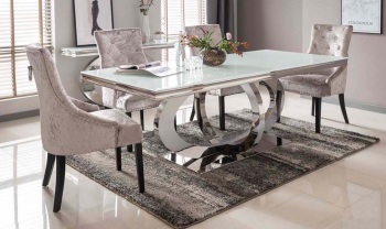 Orion Glass Top Dining Table 1800mm