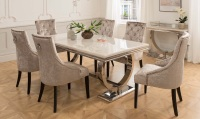 Arianna Cream Marble Table 2000mm