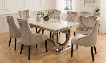 Arianna Cream Marble Table 2200mm