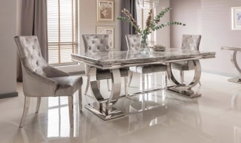 Arianna Grey Marble Table 2200mm
