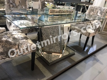 Diamond crush AZURI Dining Table