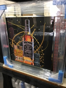 Jack Daniels Saprkle Drinks Wall Art