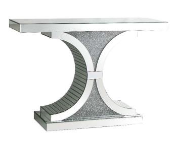 Diamond Crush Curve Console Table