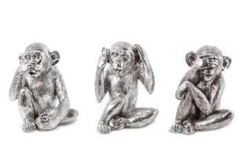 Wise Monkeys-Speak No Evil / See No Evil / Hear No Evil Set of 3