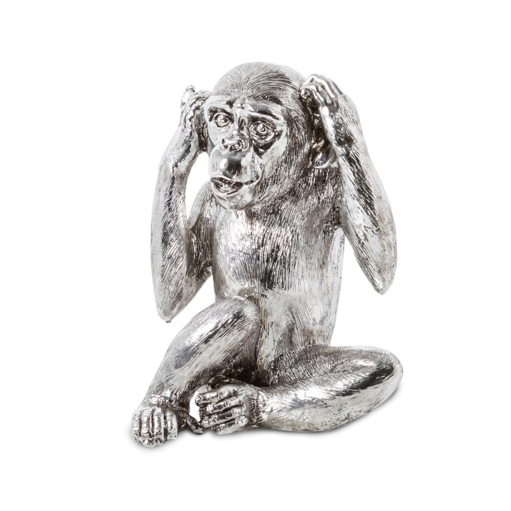 Wise Monkeys - Hear No Evil in Silver