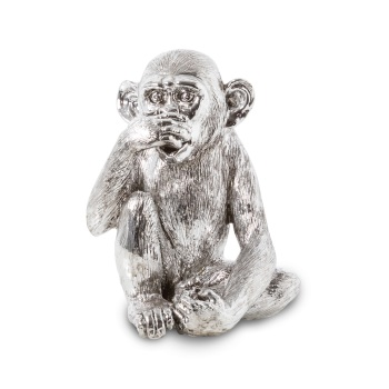 Wise Monkeys - Speak No Evil in Silver