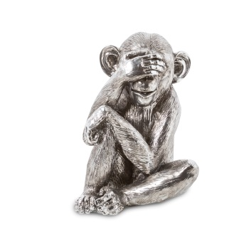 Wise Monkeys - See No Evil in Silver