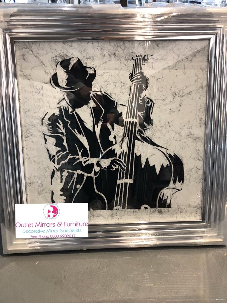 Chorme stepped framed art print