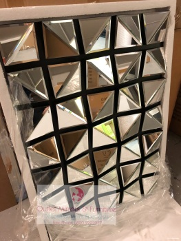 * Multi Facet Italia wall Mirror 120cm x 80cm in stock for a quick delivery