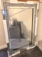 *Special Offer Diamond Crush Sparkle Mirror wide border 120cm x 80cm Item in stock