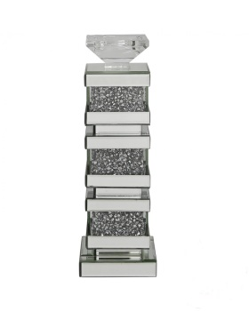 Diamond Crush blocks Tea light Candle Holder Large