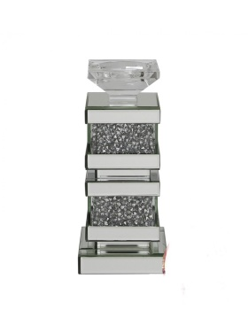Diamond Crush blocks Tea light Candle Holder medium
