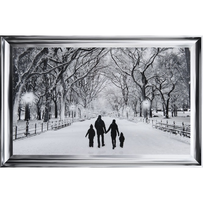 Winter Walk Family of 4 in a choice of frame colours