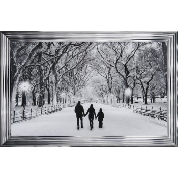 Winter Walk Family of 3 in a choice of frame colours