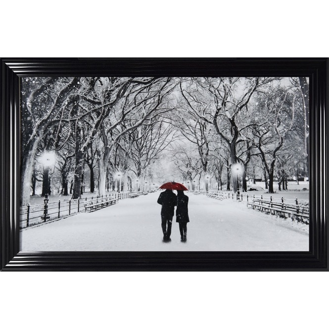 Winter Walk Couple in a choice of frame colours
