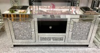 * Diamond Crush Sparkle Mirrored TV Entertainment Unit 120cm IN STOCK