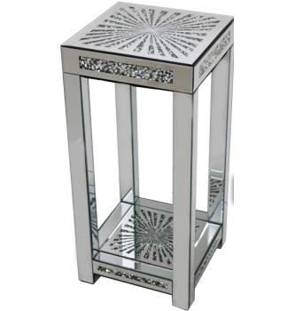 * Diamond Crush Sparkle Crystal Mirrored Sunburst Lamp Table Border Trim large