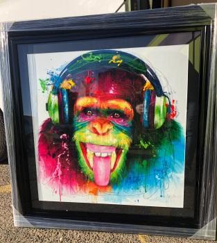 """Patrice Murciano Framed """"monkey"""" print 90cm x 90cm"""