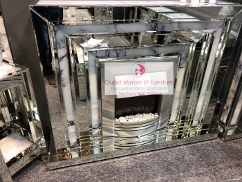 * Mirror & Marble Effect fire place with electric fire with free delivery