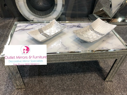 Mirror Marble Effect Coffee Table