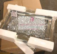""" New Diamond Crush Mirrored Tray item in stock 33cm x 21cm"